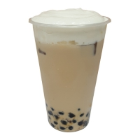 Tapioca Pearl Earl Grey Milk Tea with Sea Salt Cream